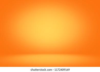 Yellow and orange studio backdrop and horizontal banner background