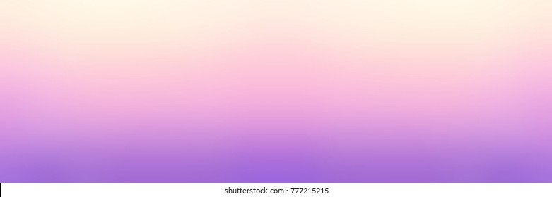Yellow, pink, violet pale empty background. Rainbow matte banner. Lilac blurred texture. Lavender abstract illustration.