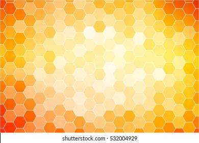 yellow, red color fantastic hexagon mosaic. abstract Raster copy illustration. for your design template presentation, cover brochure, wallpaper, banner, greeting card