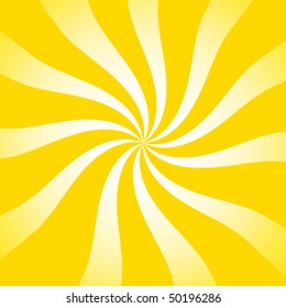 Yellow retro sun swirl background