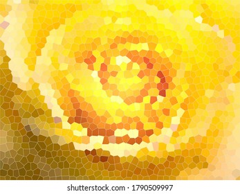 Yellow rose stained glass background (closeup)
