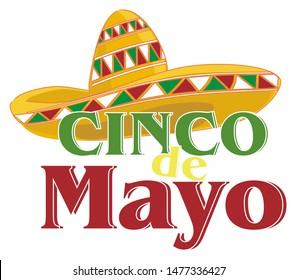yellow sambrero and cino de Mayo