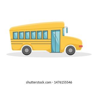Yellow school bus. Education illustration. New academic year. Isolated illustration.