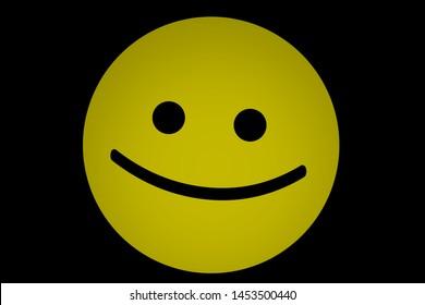 Yellow smile emoticon icon background illustration