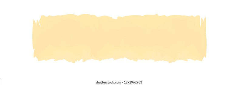 yellow soft stripe painted in watercolor on white background, cream watercolor brush strokes, illustration paint brush digital soft concept water color art, soft acrylic water color paint stains