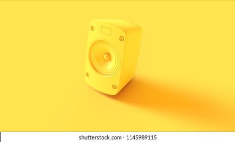Yellow Speaker 3d illustration