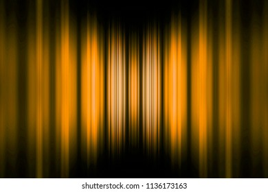Yellow speed stripes background with selective focus centre highlight