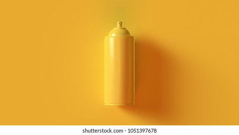 Yellow Spray Can 3d illustration  3d rendering