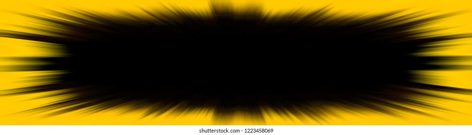 Yellow starburst explosion banner with a black copy space centre