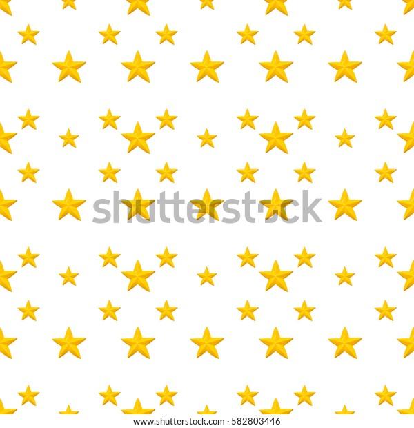 Yellow stars pattern seamless background.