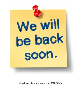 We will be back soon images