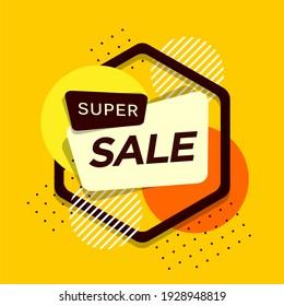 Yellow Super Sale Banner Design