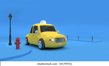 Yellow Taxi 3D