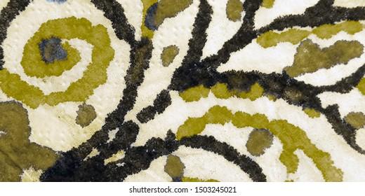 Yellow Tie Dye Batik. Aquarelle Texture. Artistic Dirty Canva. Yellow Watercolor Paint. Golden Rough Art Print. Oil Ink. Gold Brush Paint. Golden Graphic Dyed.