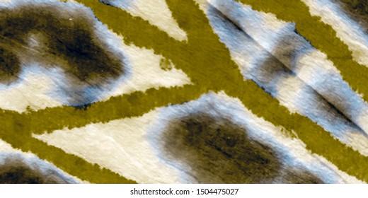 Yellow Tie Dye Batik. Watercolor Ink. Dirty Art Banner. Yellow Watercolor Print. Gold Modern Dyed. Brushed Texture. Luxury Oil Ink. Bronze Graffiti Grunge.
