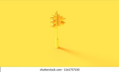 Yellow Traffic Light Signals 3d illustration
