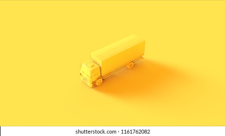 Yellow Truck 3d illustration