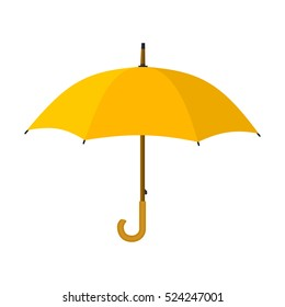 yellow umbrella icon. illustration in flat style isolated on white background Raster version