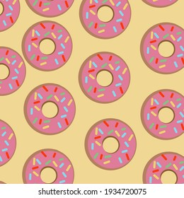 yellow wallpaper with colorful donuts