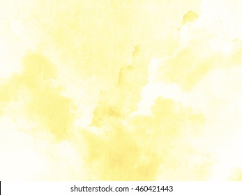 Yellow watercolor background texture