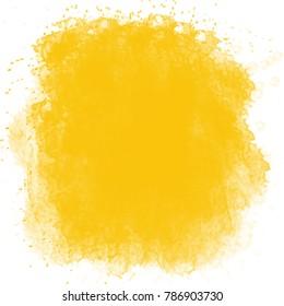 yellow watercolor splash background