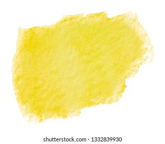 yellow watercolor stain watercolor stain drawn by hand.