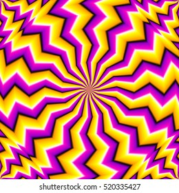 Yellow zigzags (spin illusion)