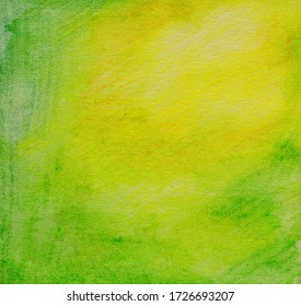 yellow-green watercolor background, uniform coloring, for creativity and design