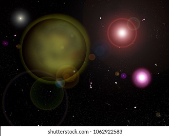 Yellowplanet,  Distant exoplanet Trappist concept