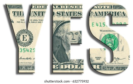 Yes, answer or acceptance. US Dollar texture.