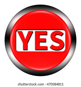 Similar Images, Stock Photos & Vectors of Yes red 3d square
