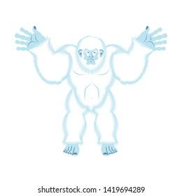 Yeti guilty. Bigfoot surprise. Abominable snowman culpablen