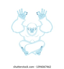 Yeti yoga. Bigfoot yogi. Abominable snowman relaxation and cognition.