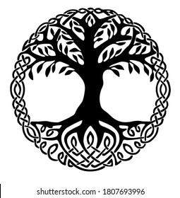 Yggdrasil, the tree of life. Vikings Symbol