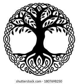 Yggdrasil, the tree of life. Vikings symbol Odin.