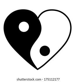Heart Yin Yang Images Stock Photos Vectors Shutterstock