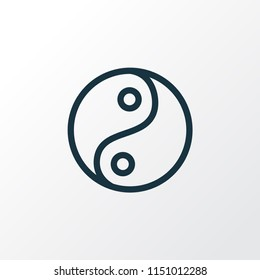 Yin yang icon line symbol. Premium quality isolated tao element in trendy style.