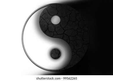 yin and yang symbol. illustration