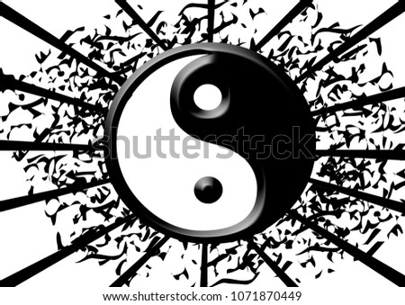 Royalty Free Stock Illustration Of Yin Yang Karma Symbol Abstract