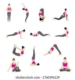 Yoga and fitness position, healthy style