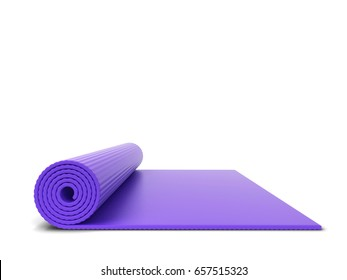 Yoga mat. 3d illustration isolated on white background