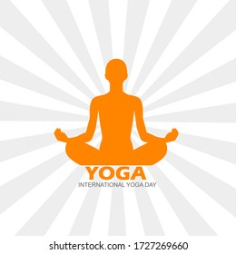 yoga posture image with light rays in background