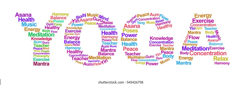 Yoga Text in White Background