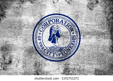 Yonkers grunge and dirty flag illustration. Perfect for background or texture purposes.