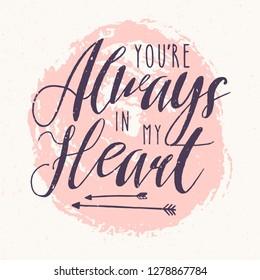 Always In My Heart Images Stock Photos Vectors Shutterstock
