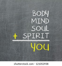 You, body, mind, soul, spirit - a simple mind map for personal growth