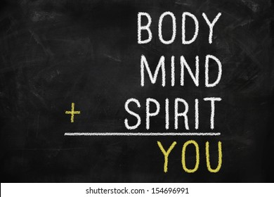 You, body, mind, soul, spirit - a mind map for personal growth