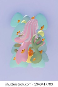 You have to go to heaven three dimensional abstract painting