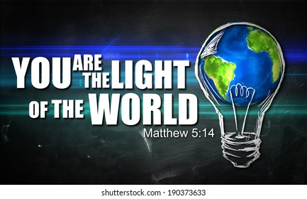 "You are The Light of the World ""Elements of this image furnished by NASA"""