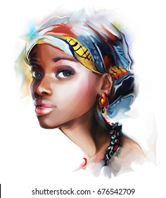 young beautiful fashion african woman